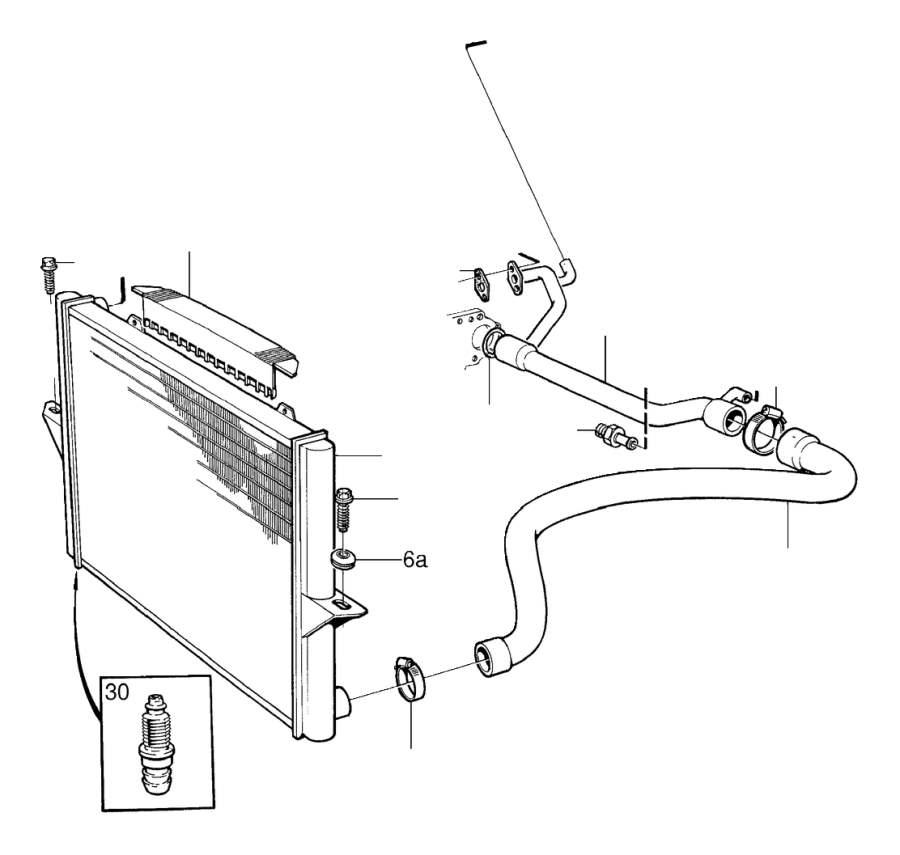 2001 Volvo Engine Coolant Pipe