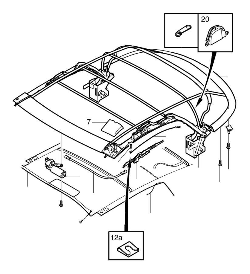 2000 Volvo C70 Roof  Soft Top  C70 Conv  Interior  Body - 8628724