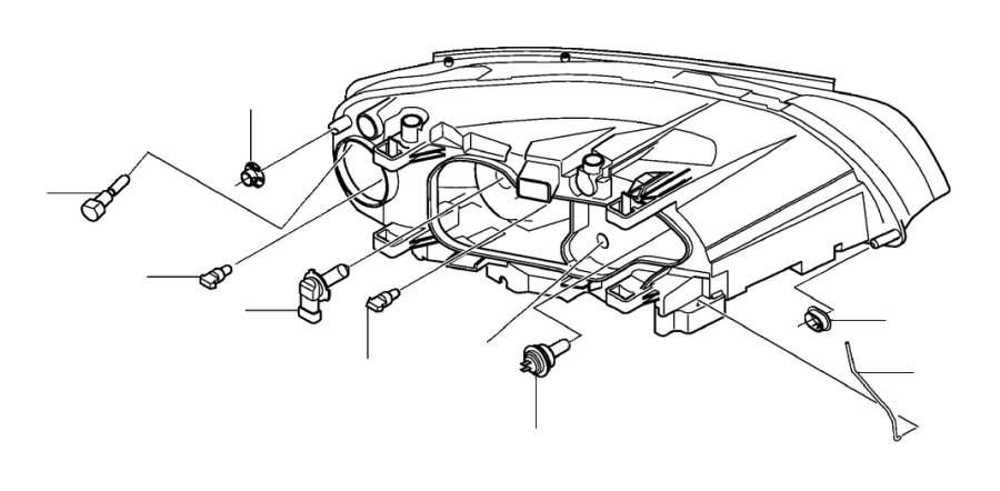 2013 Volvo XC90 Bulb. Headlamps, Headlights, Beam - 989829 ...