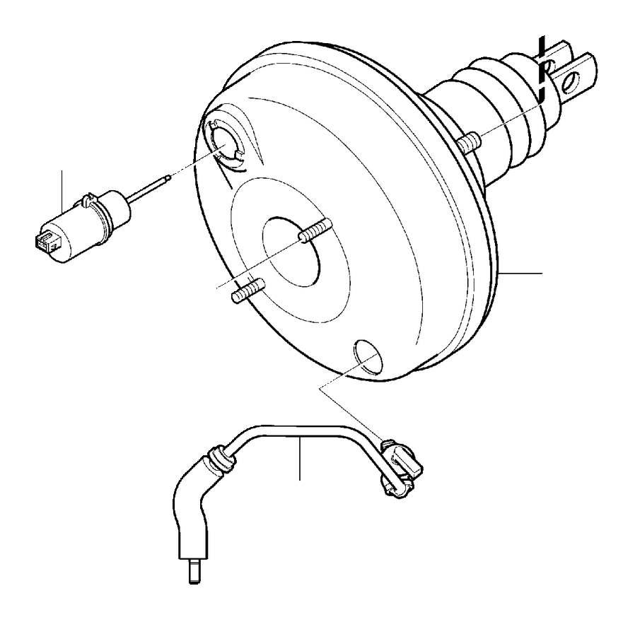 31406272 - vacuum hose  brake  master  cylinder