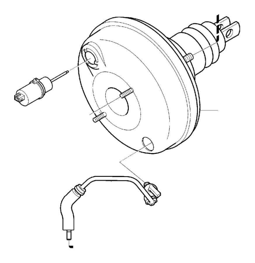 31406272 - vacuum hose  brake  cylinder  master