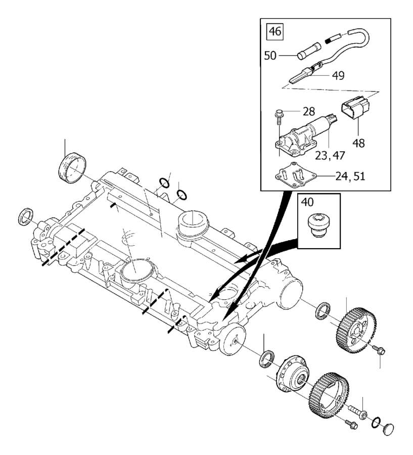 9440651 - sealing ring  without  supplied  camshaft