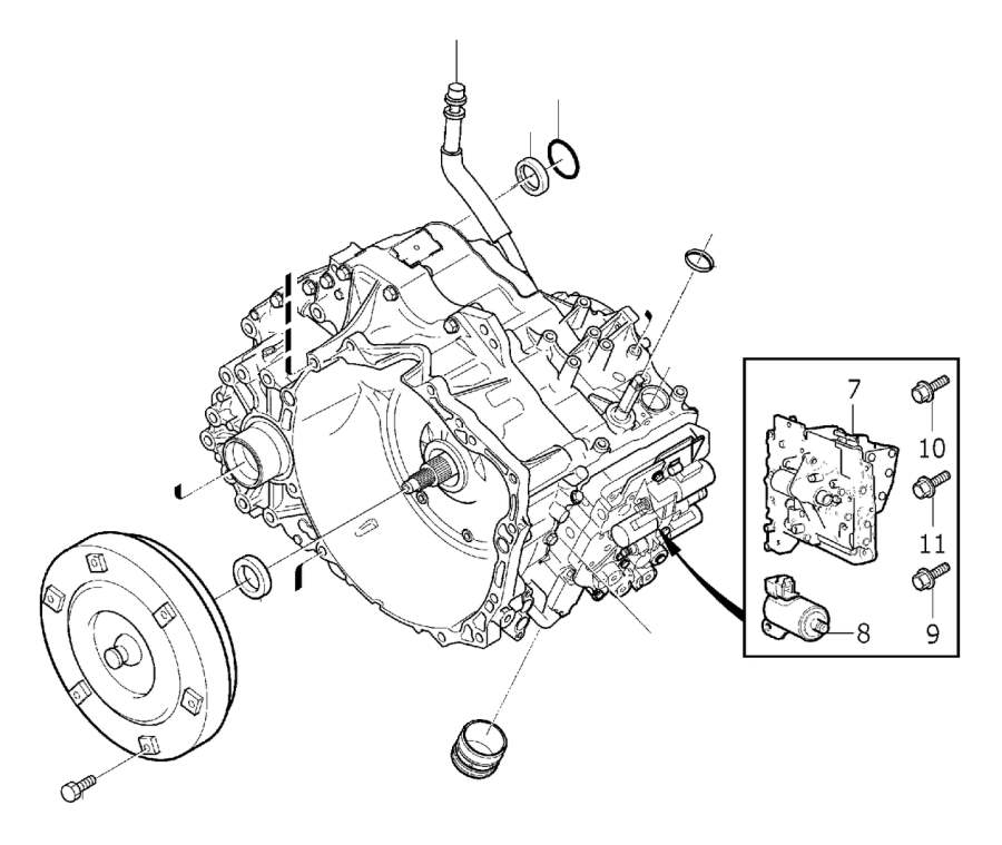 30713726 - sealing ring  gearbox  automatic  transmission  automatic
