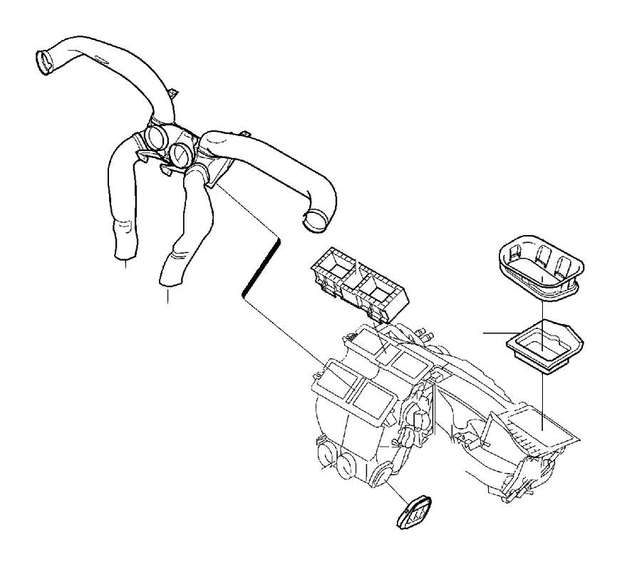 2005 volvo s80 air duct  heater  system  distribution