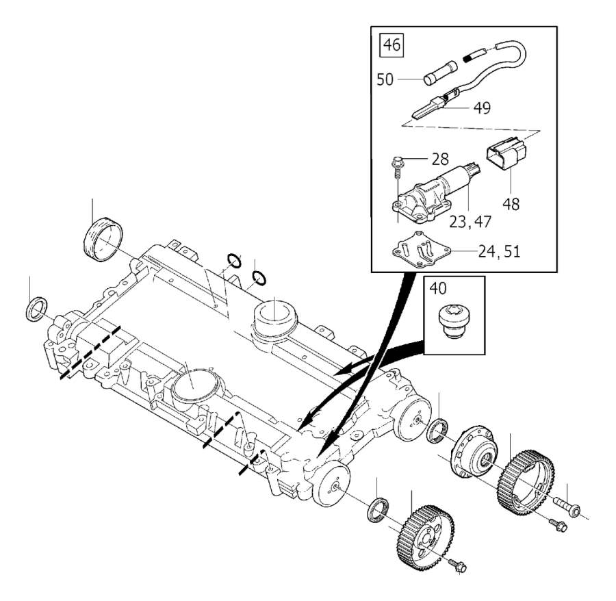 Pulley. Without, Supplied, Camshaft