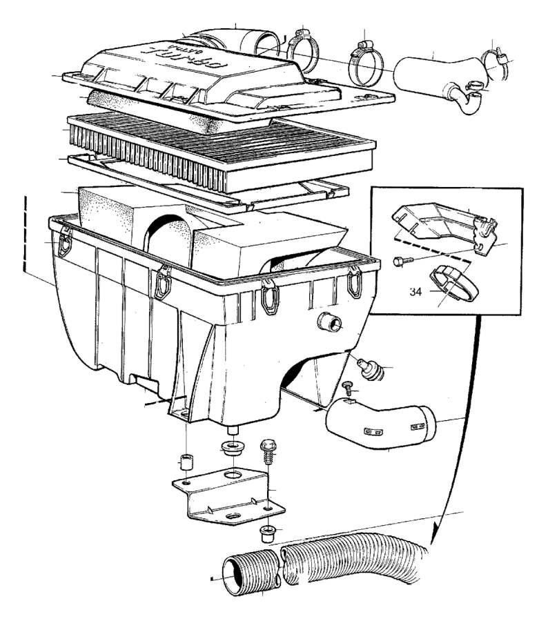 3517061 - filter housing  genuine classic part  air  cleaner