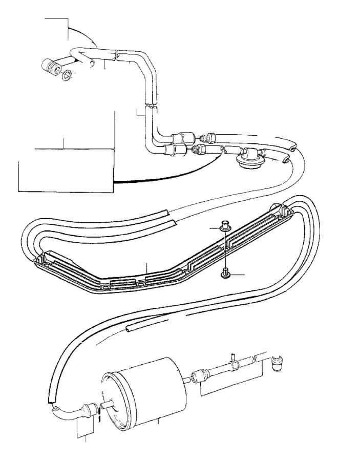 1997 volvo 850 pressure pipe  fuel  engine  tank