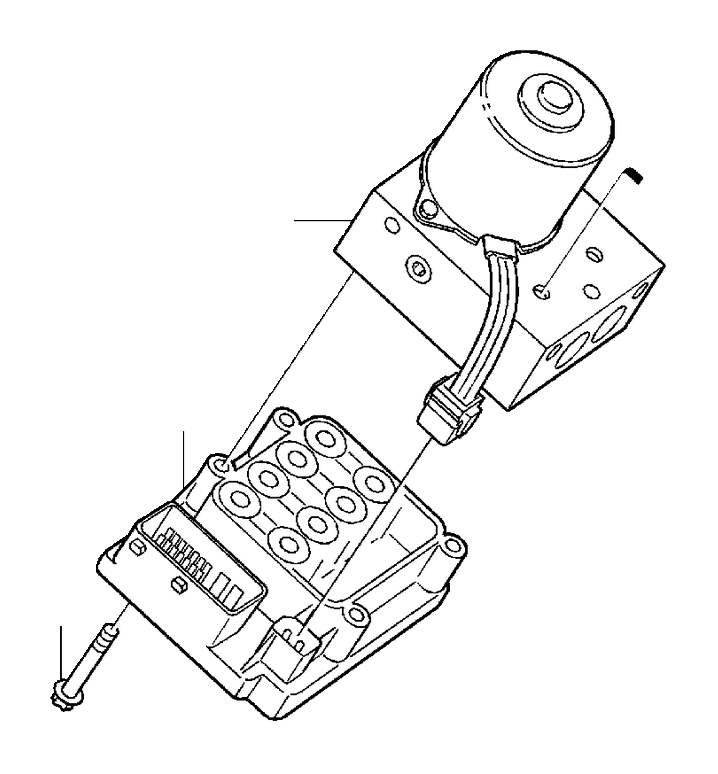 8619544 - control unit  abs  hydraulic  module