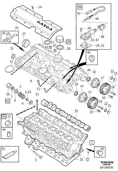 2005 Volvo S60 2 5l 5 Cylinder Turbo Engine Camshaft Plug