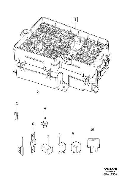 30765042 - Fuses And Relays  Relay And Fuse Box Cargo Compartment  Rem   Relay And