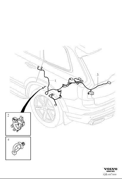 31456020 - wiring harness  cable  axle  rear