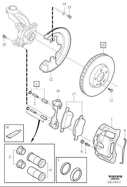 2017 Volvo S60 Brake Pad Kit  Wheel  Front  Kits - 31200229
