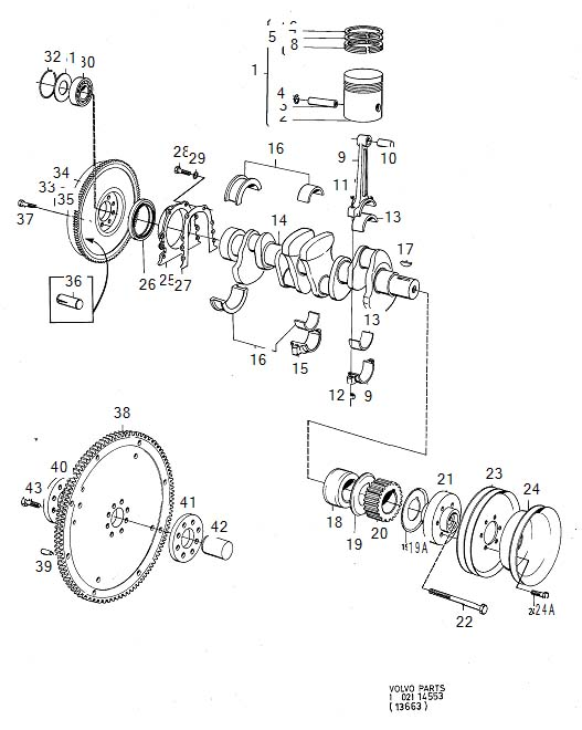 volvo 240 main bearing kit genuine classic part crank. Black Bedroom Furniture Sets. Home Design Ideas