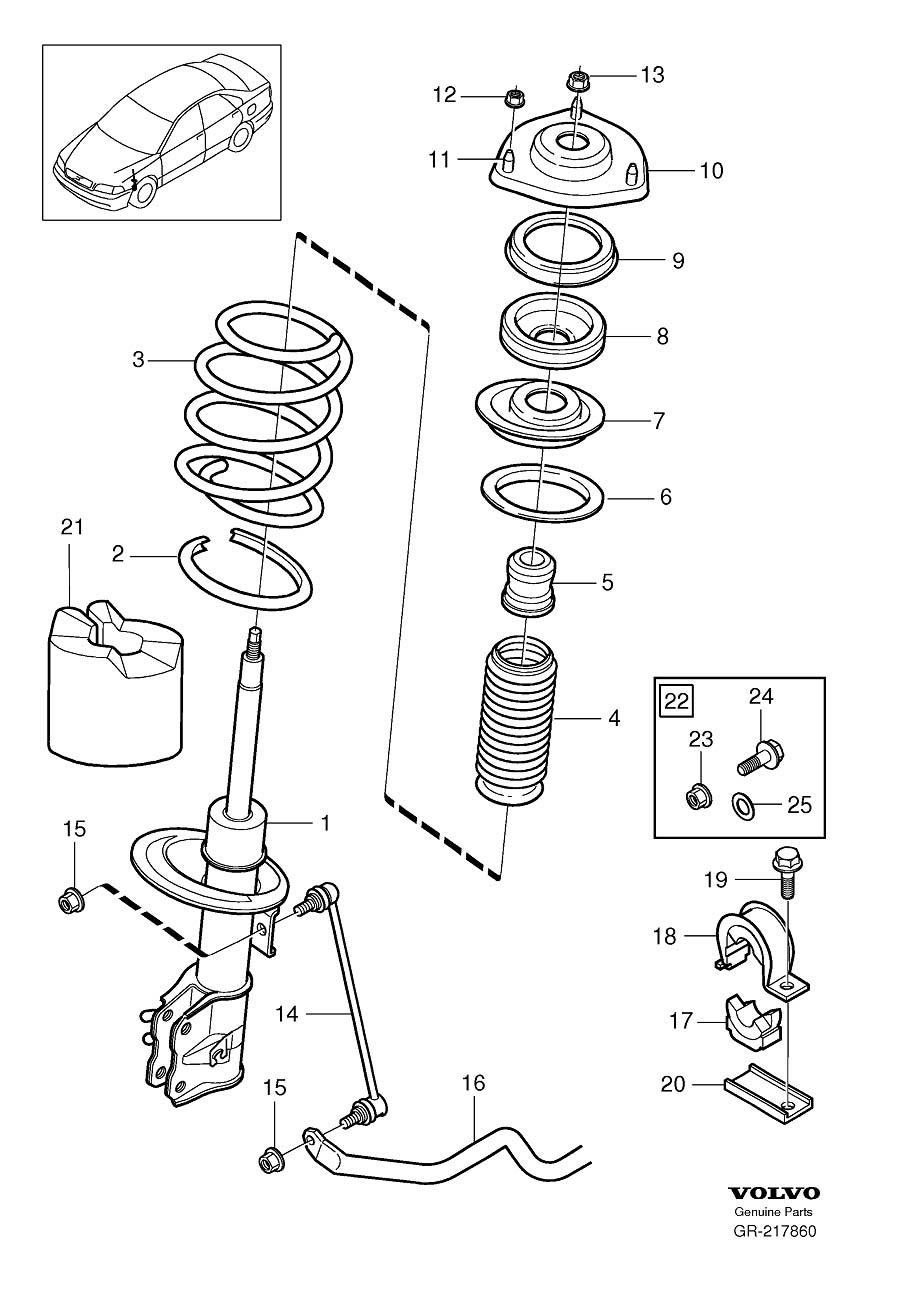 30616859 - shock absorber  suspension  see  marking