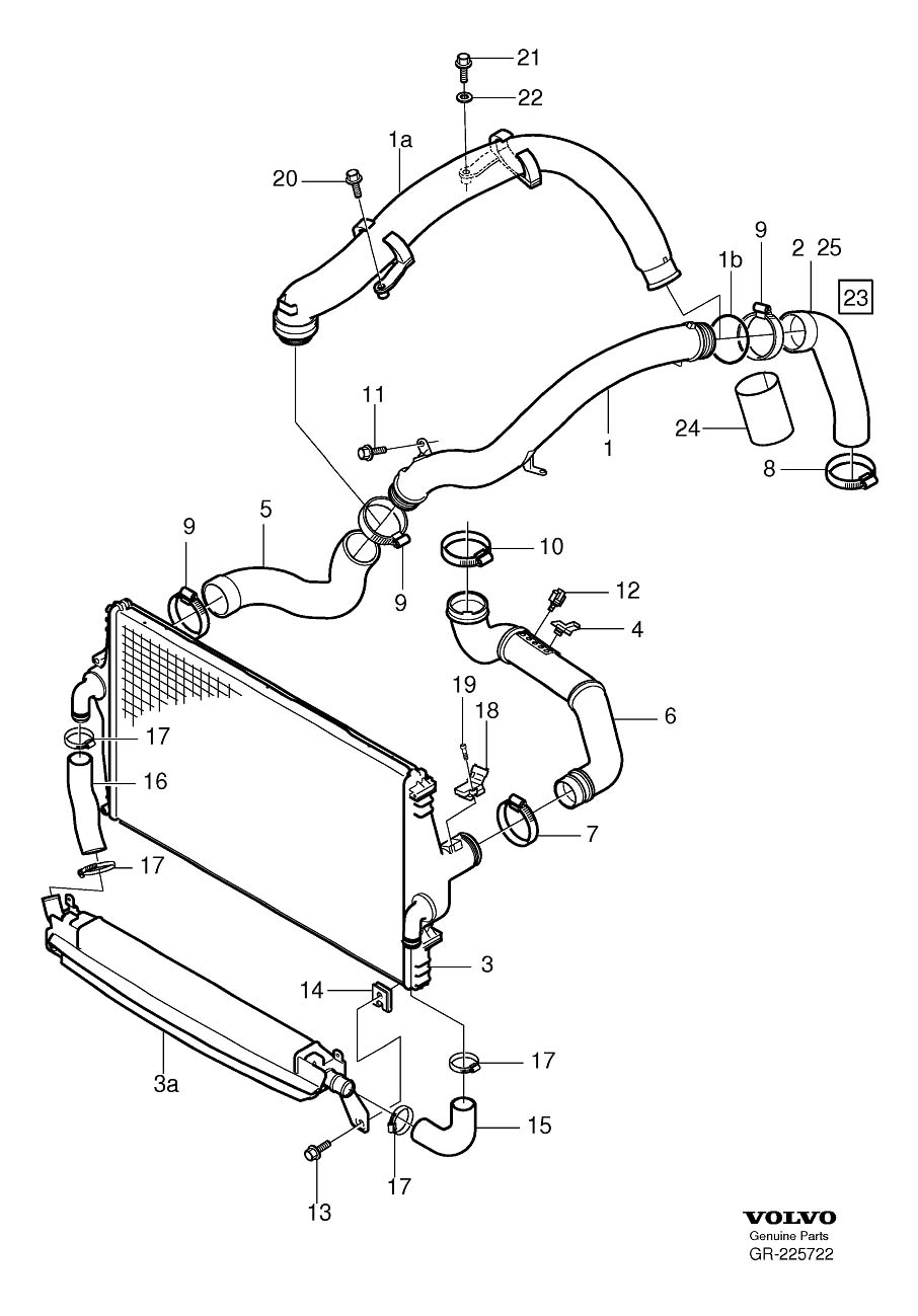 2001 Volvo S60 Turbocharger Boost Sensor  Map Sensor
