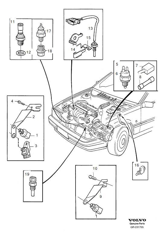 2002 Volvo C70 Barometric Pressure Sensor  Altitude Sensor  Instrumentation  Sender