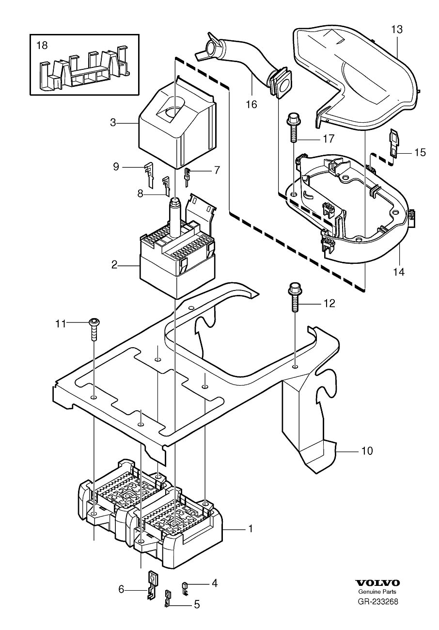2007 Volvo Bracket  Connector  For Connecting Passenger And Engine Compartment Cable