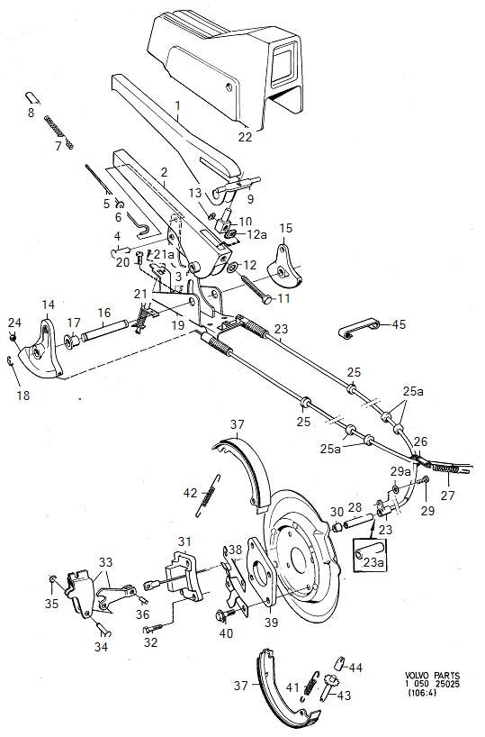 1980 volvo 240 clamp  genuine classic part  battery  dia  engine - 952637
