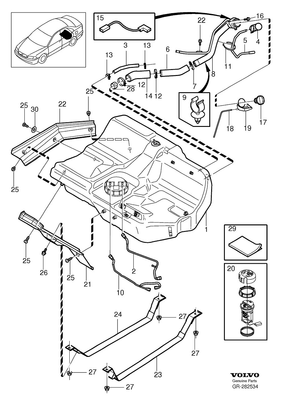 9202434 - Evap Canister  Genuine Classic Part  Fuel Tank And Connecting Parts