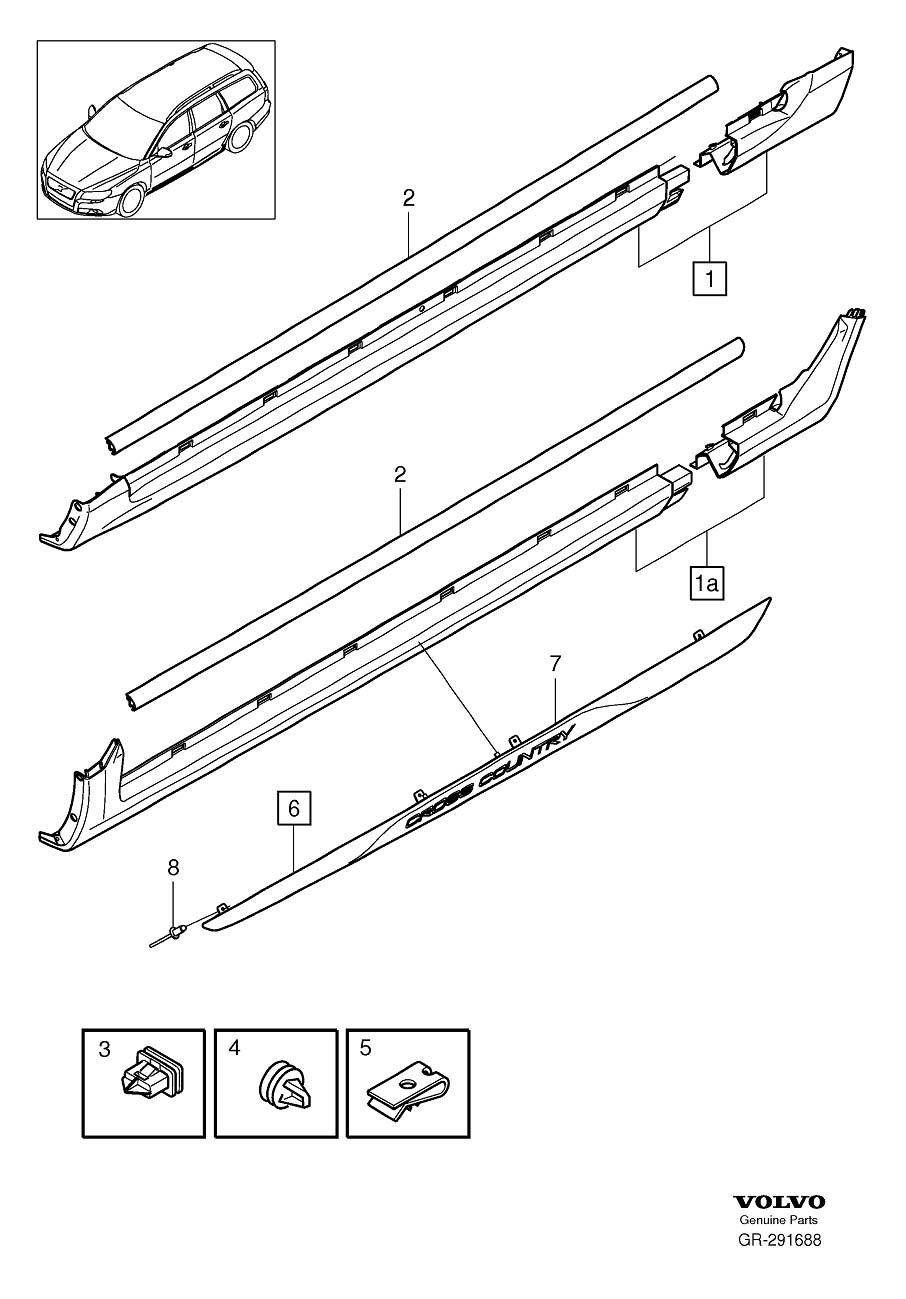 volvo xc70 blind rivet  body  bumper  front - 981811