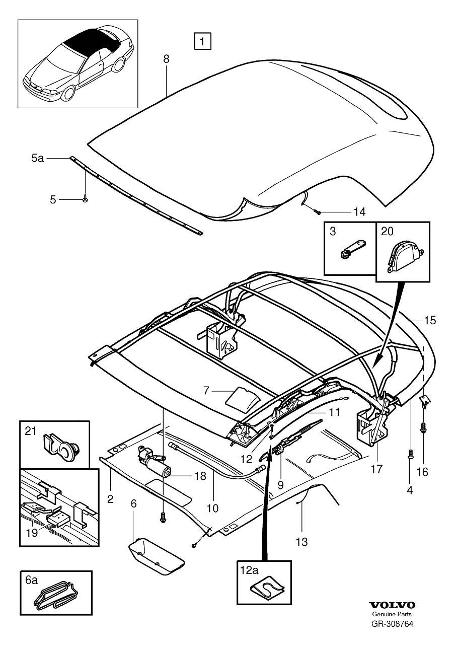 2000 Volvo C70 Roof  Soft Top  C70 Conv  Interior  Body