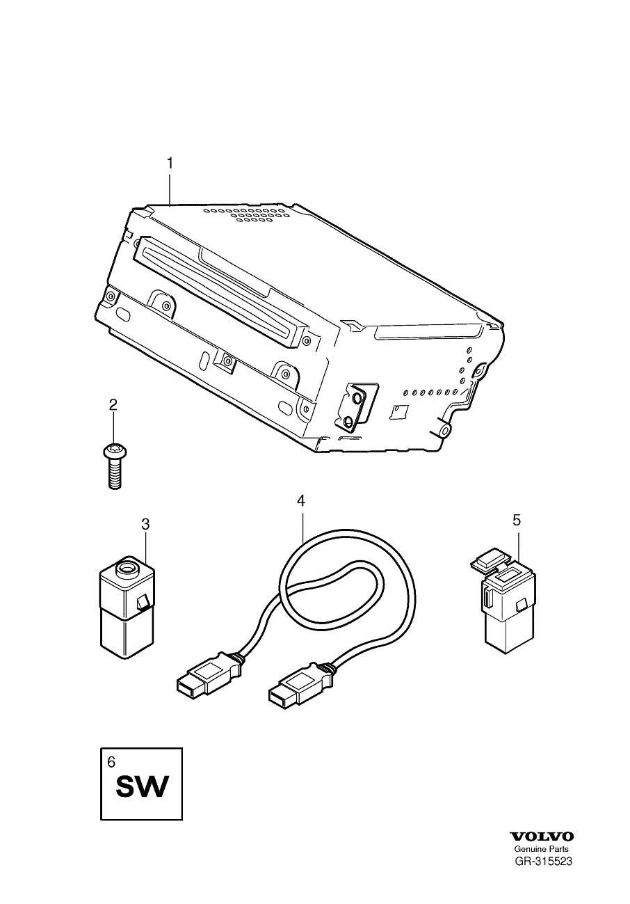 30657961  Aux input Player  Other  Media  Genuine Volvo Part
