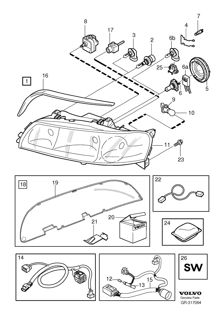 8678122 - Headlight Wiring Harness Connector