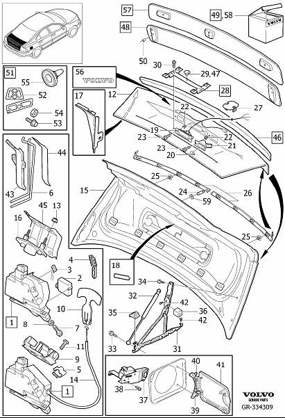 31265160 - hinge  tank  hatch  extra