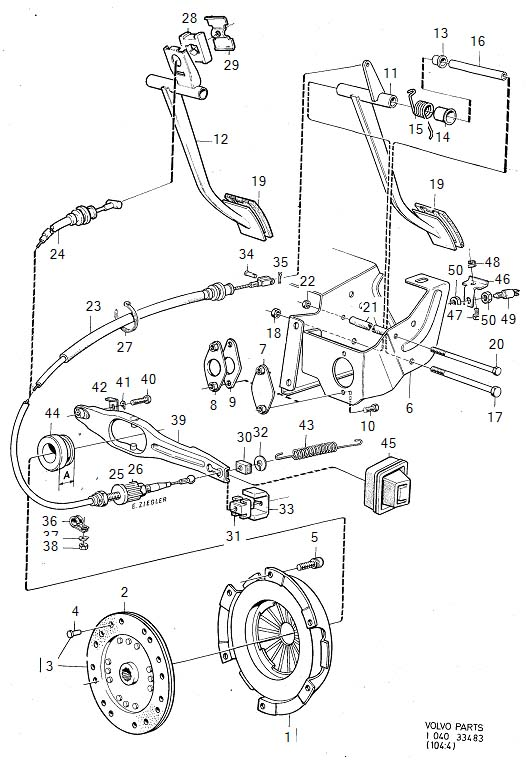 272365 - cable kit  genuine classic part  clutch  control  engine