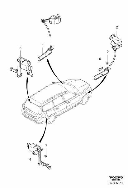 2015 Volvo Xc70 Cmp Sensor  Position Sensor  Headlight