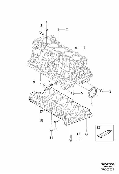 987736 - Flange Screw  Auxiliary Aggregate Suspension  Auxiliary Belt Drive