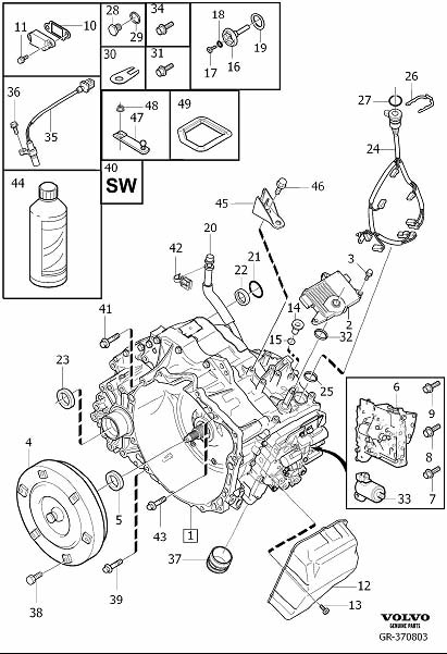 Volvo S80 Gasket  Gearbox  Automatic  Transmission  Automatic - 30713220