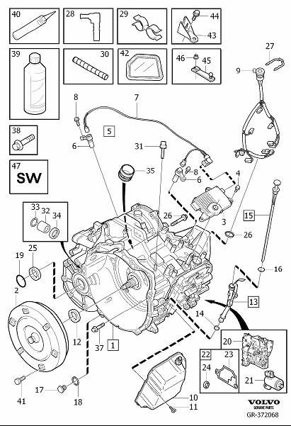 30713956 - Drain Plug  Automatic  Transmission  Gearbox