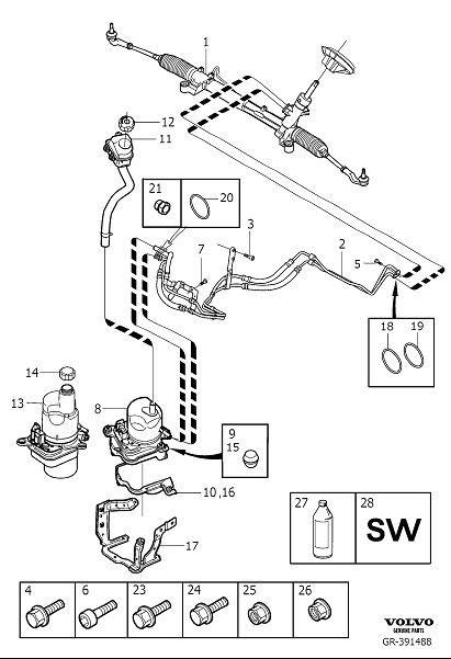 Volvo V50 Power Steering Pump  Exch  Power Steering Pump