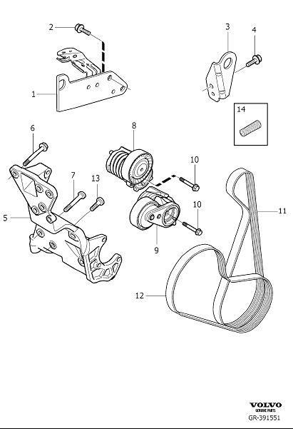 2006 Volvo Accessory Drive Belt Tensioner  Auxiliary