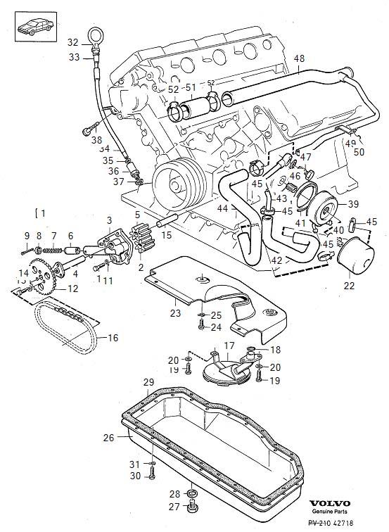 Volvo 760 Hose  B280  Lubricating System  B280f  Engine  Classic - 1271449