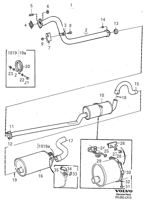 9142998 - exhaust pipe  genuine classic part  system  kits  multilink