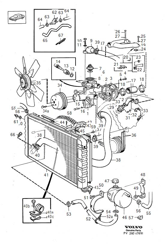 1269874 - water pump  genuine classic part  cooling  system  engine