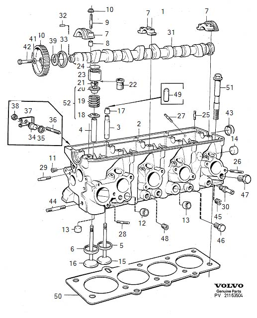 volvo 240 absorber manifold inlet head 3514432. Black Bedroom Furniture Sets. Home Design Ideas