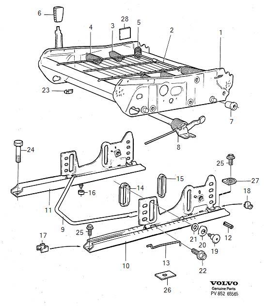 Volvo 960 Engine Timing Belt Tensioner. DAMPING ELEMENT ...