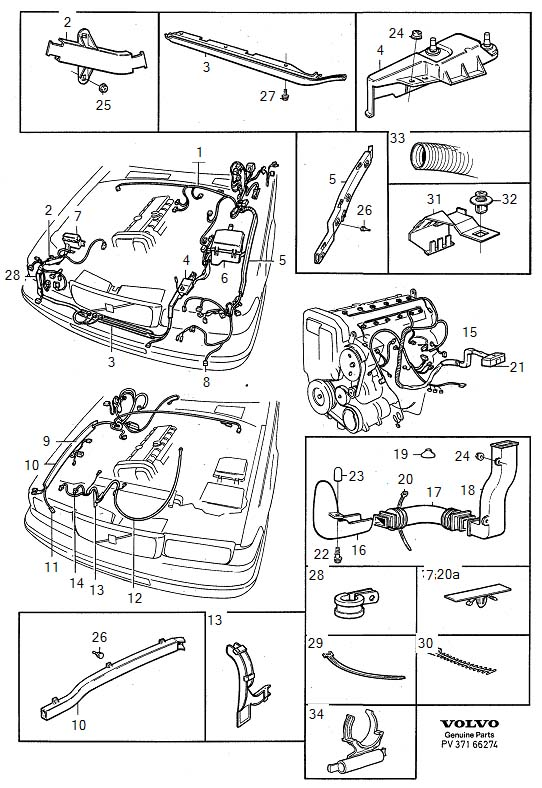 973218 - Clamp  Air Conditioning  Cable Harness  Cable Conduit  Engine Compartment