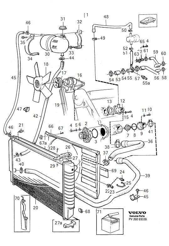 1985 Volvo Engine Coolant Reservoir Hose Clip  Retainer