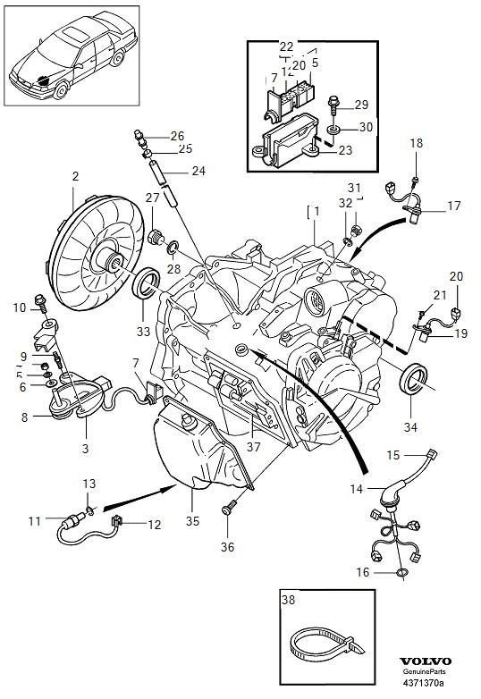 volvo v70 xc drain plug  automatic  transmission  gearbox - 30713956
