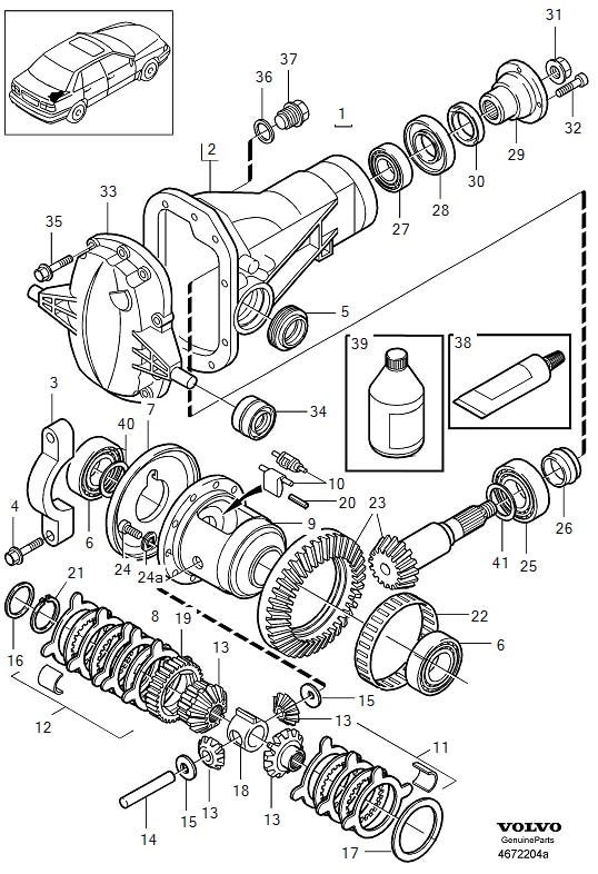 979651 - Flange Screw  Ratio  Axle  Rear