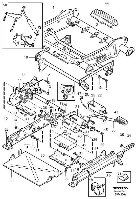1998    Volvo    C70       Electrical    motor Seat  Adjustment  Subframe  3539974  Genuine Volvo Part