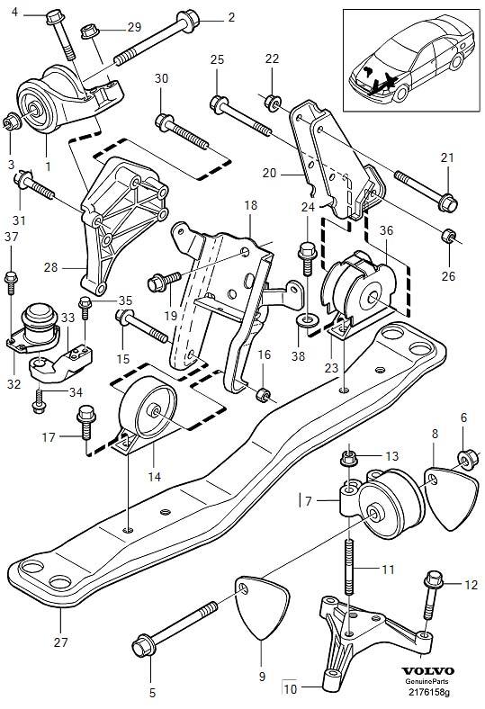 9146053 - Engine Bracket  Engine Mountings  Ch