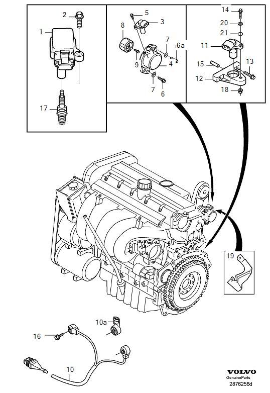 30713370 - camshaft position sensor  system  ignition  turbo