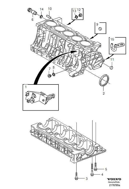 2002 Volvo C70 Nozzle  Block  Engine  Pump