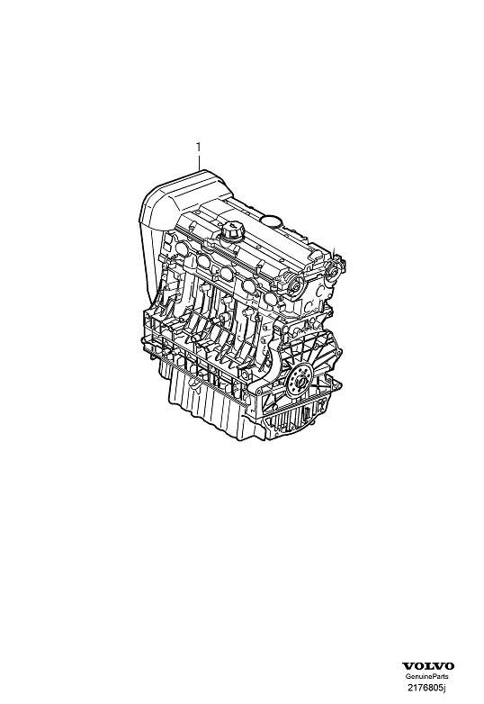 2008 Volvo V50 Engine Complete  Motor  Assembly  Exchange  Bengine - 36050984