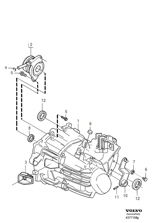 2001 Volvo S40 Manual Transmission Output Shaft Seal